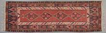 Kilim Carpet, 5' x 12' 7. Provenance: Mount Hope Plantation, Copiah County, MS.