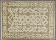 Turkish Angora Oushak Carpet, 9' 2 x 11' 10