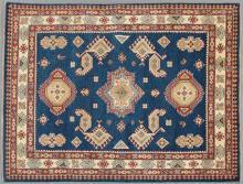 Uzbek Shirvan Carpet, 5' x 6' 7