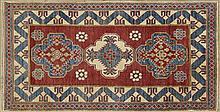 Uzbek Kazak Carpet, 3' 3 x 5' 6.