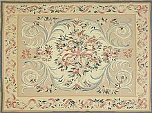 Aubusson Carpet, 7' 4 x 9' 4.