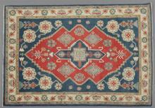 Uzbek Kazak Carpet, 4' 10 x 6' 6.