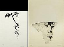 †Oswaldo Guayasamin (1919-1999, Ecuador), pair of works on paper, consisting of