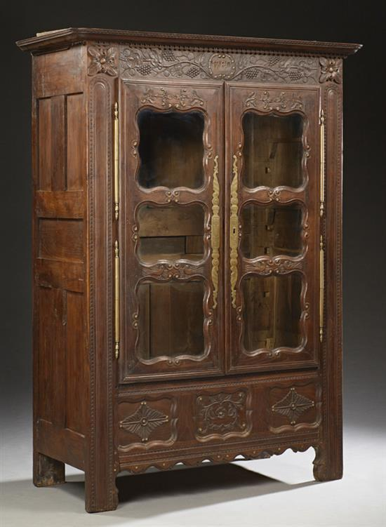 french henri ii style carved oak armoire 18th c the ogee. Black Bedroom Furniture Sets. Home Design Ideas