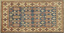 Uzbek Kazak Carpet, 3' 5 x 5'.