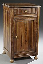French Provincial Carved Oak Nightstand, early 20th c