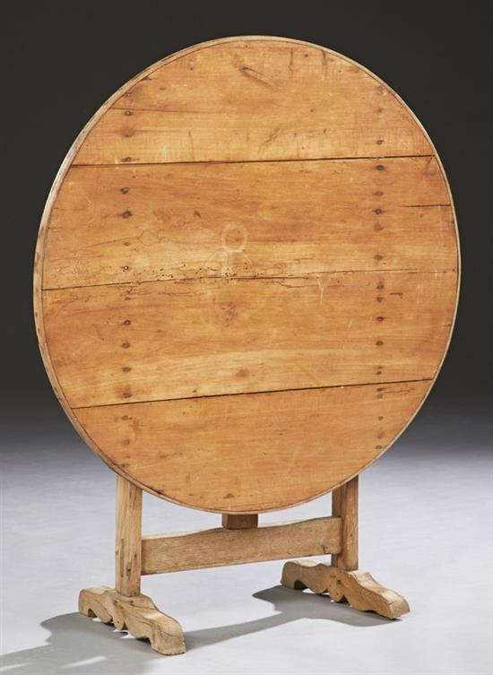 French carved poplar wine tasting table 19th c the circul for Th 37px60b table top stand