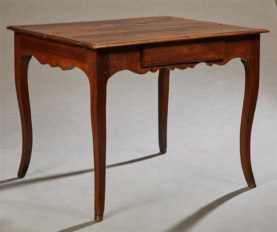 Montego Contemporary Merlot Wood Square End Table W Drawer: French Provincial Carved Walnut Side Table, 19th C., The Rou