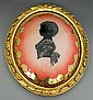 Gilt Framed Convex Glass Eglomise Portrait of a Girl, early 20th c., H.- 16 in., W.- 13 3/4 in., D.- 3 1/2 in.