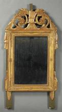 French Louis XIV Style Gilt Poplar Mirror, c