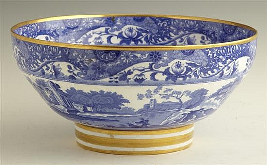 Copeland Spode Footed Center Bowl, 20th c., in the blue