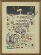 Dixie Durham (1913- ), Illustrated Poem, 20th c., watercolor, signed verso