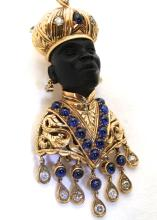 Antique Blackamoor 18K Brooch & Earrings circa 1890