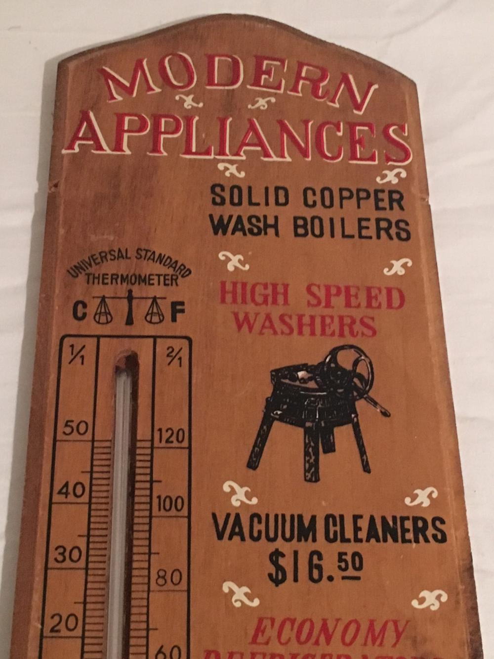 Vintage Advertising Thermometer Modern Appliances