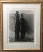 Elisabeth Sunday (b. 1958), Gold Toned Photograph, Laughing, Kenya, 1987