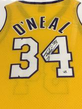 Signed Shaquille O'Neil LA Lakers Jersey in Frame