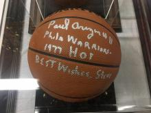 Paul Arizin Hall of Fame 1978 Signed Basketball