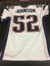 Signed Ted Johnson New England Patriots Jersey