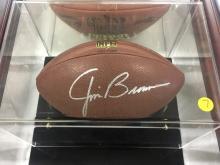 Signed Football Jim Brown Hall of Fame 1971