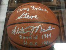 Signed Basketball Slater Martin Hall of Fame 1982