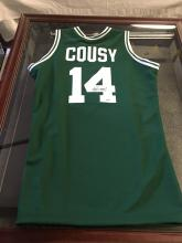 Signed Basketball Jersey Bob Cousy Hall of Fame Boston Celtics 1971
