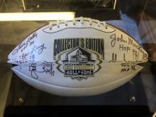 Signed Football Leroy Kelly HOF, Jim Parker HOF, John Mackey, Yale Lary, Gino Marchetti- Collectors Edition HOF Football