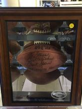 Signed Football to Steve Best Wishes Bart Starr 1977
