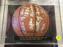 Signed Basketball Al Cervi Hall of Fame 1985