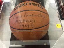 Signed Basketball Henry Rosenstein Nicks 1946-47