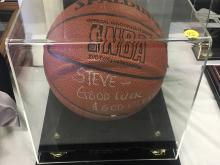 Signed Basketball George Yardley Hall of Fame 1996