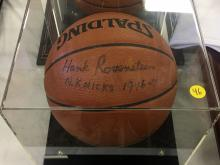 Signed Basketball Hank Rosenstein Nicks 1946-47