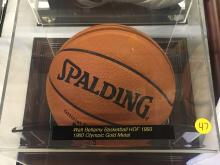 Signed Basketball Walt Bellamy Hall of Fame 1993