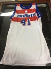 Signed Jersey Wes Unseld Washington Bullets Hall of Fame 1988