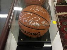 Signed Basketball Rick Barry Hall of Fame 87