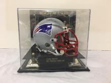 Mini Football Helmet Signed Curtis Martin New England Patriots