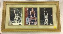 3 Framed Signed Basketball  Photographs