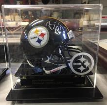 Mini Signed Helmet Ben Rothlisberger Pittsburgh Steelers