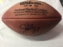 Autographed Football John Elway #7