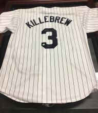 Autographed Minnesota Twins Jersey Signed by Harmon Killebrew