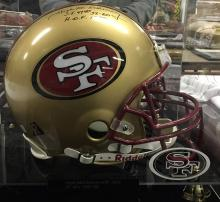 Autographed Football Helmet Hugh McElhenny HOF 1970 San Francisco 49's 1952-60