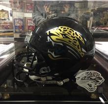 Autographed Football Helmet Signed Mark Brunell Jaguars 1995-03