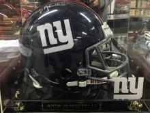 Autographed Helmet Signed by Andy Robustelli New York Giants
