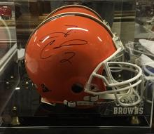 Autographed Football Helmet Tim Couch Cleveland Browns 1999-2001