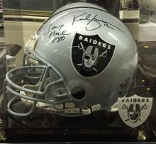 Autographed Football Helmet Oakland Raiders Jerry Rice & Rich Gannon