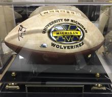 Tom Brady Autographed University of Michigan Wolverines Football