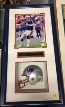 Drew Bledsoe Autographed Photo with Mini Helmet in Frame NFL Officially Licensed