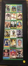 Autographed Vintage Football Collector Cards Framed