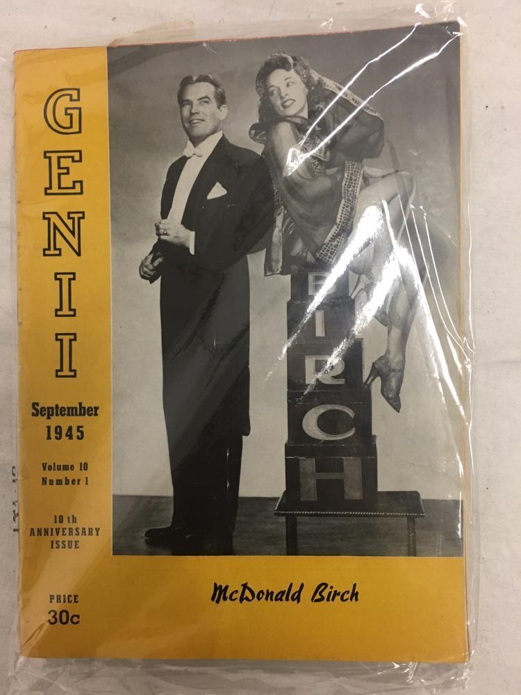 GENII THE CONJURORS' MAGAZINE Vintage December 1954 Santa Genie Vol 19 No 4 Rare