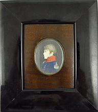 Portrait miniature - Portrait of Lajos Rákosi Boros court councillor