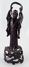 Japanese antimony figure of a geisha